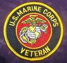 U.S. MARINE CORPS USMC VETERAN EMBROIDERED PATCH SEMPER FI SEW/ IRON ON