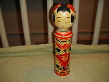 Vintage Japanese Kokeshi Doll-Japanese Toy Wood Doll-SIGNED-Sugai Kunio-Takeo