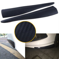 2x Universal Car Carbon Fiber Anti-rub Strip Bumper Body Corner Protector Guard