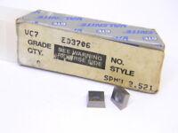 NEW SURPLUS 4PCS. VALENITE SPMW 2.521  GRADE: VC7  CARBIDE INSERTS