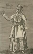Ottoman Prostituée Fille de Joie Turque Chalcondyle Nicolas Nicolay Gravure 17e
