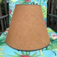 Vintage Burlap Lamp Shade large tapered drum