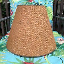 Vintage Burlap Lamp Shade large tapered drum