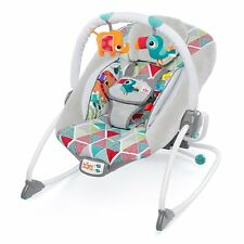 Baby Rocker Bouncer Reclining Chair Soothing Music Toys Bright Starts UK Stock