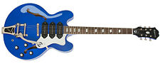 EPIPHONE LTD ED RIVIERA CUSTOM P93 BLUE ROYAL GUITARE ÉLECTRIQUE SEMI-ACOUSTIQUE
