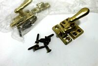 LOT OF 2 VINTAGE REPLACEMENT BRASS ARTS CRAFTS VICTORIAN WINDOW SASH LOCK LATCH
