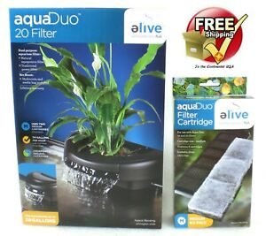 Elive AquaDuo 20 Gallon Fish Aquarium Filter Aquaponics Plus 6 Extra Filters NEW