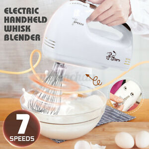 7 Speed Handheld Electric Food Whisk Mixer Blender Beater 100W Kichen Cooking *
