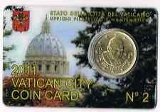 COINCARD 50 CENTIME D'EURO VATICAN 2011 NEUF
