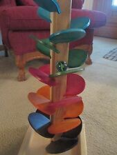 Wooden colorful marble tree-Marble roller