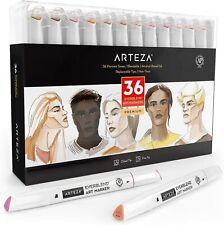 Arteza EverBlend Art Markers,  Skin Tones - Set of 36