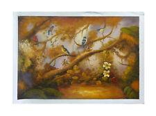ZWPT256 100/% hand-painted flower landscape birds art oil painting on canvas