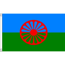 Gypsy Flag 5Ft X 3Ft Romani People Travellers Roma Romanies Banner New