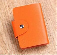 New Cute Womens Wallet Holder Pocket Business ID Card Credit Bag Case Orange #1