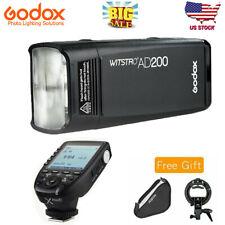 Godox Ad200 2.4G Ttl Hss Flash + Xpro-F Trigger For Fujifilm + Softbox+Mount Us