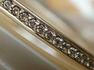 $2150 DAVID YURMAN SS WHITE DIAMOND BRACELET BANGLE