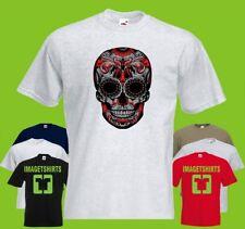 Sugar Skull kid PRINTED T-SHIRT tee-shirt tshirt Art skull