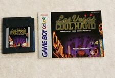 Las Vegas Cool Hand Nintendo Game Boy Color VIDEO GAME AND MANUAL NICE LABEL