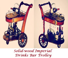 [50% Off Special!]Luxury SOLID WOOD Imperial Whisky Wine Bar Trolley