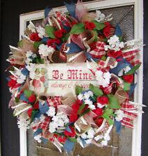 Romantic Vintage Style Be Mine Valentine's Day Mesh Wreath Home Decor Decoration