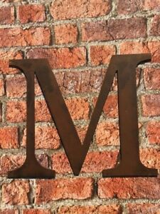 Industrial Rusty Aged Metal 12 Inch (30.5 cm.) Alphabet Letter - M
