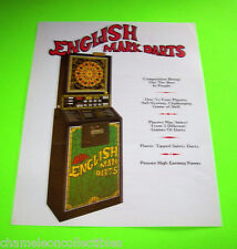 ENGLISH MARK DARTS By ARACHNID ORIGINAL ARCADE DART GAME SALES FLYER BROCHURE