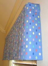Window Valance Curtain Pleated Polka Dots JELLY BEANS Home Decor CUSTOM NEW SALE