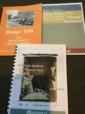 Bela Fleck Banjo 3 Books: Drive, Bluegrass Sessions & Tales From Acoustic Planet