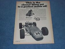 """1967 Enco Oil Vintage Ad with AJ Foyt """"This is the Closest Thing Yet..."""""""