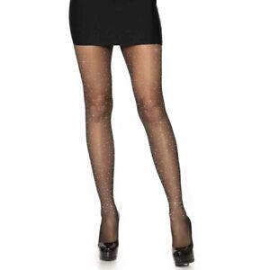 Leg Avenue Sexy Rhinestone Spandex Sheer Pantyhose Hosiery Tights for Women
