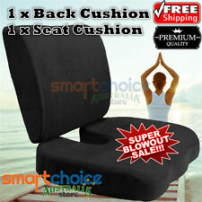 Memory Foam Seat Cushion Back Cushion Back Support Pillow Lumbar Pain Relief