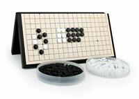 "Magnetic Travel Go Game Set Magnetic Plastic Stones Large Fold Go board 磁力围棋 11"""