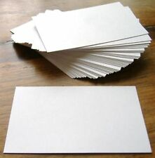 100 x White Blank Business Cards - 250gsm Ultra White Card - UK Card Crafts
