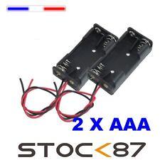 997M#  2pcs Boitier Bloc Support pour Pile 2 X AAA  LR03  Battery Holder Case