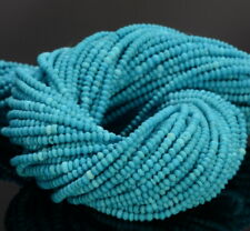 1x1MM Blue Genuine Turquoise Gemstone Grd AAA Rondelle 15.5 Inch (80007379-473)