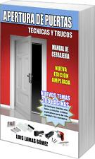 Libro de  cerrajeria APERTURA DE PUERTAS - TÉCNICAS Y TRUCOS (Nueva Edición)