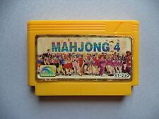 MAHJONG 4. Famicom Dendy NES Yellow Casette Video Games. Chinese version
