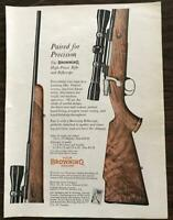 ORIGINAL 1964 Browning High-Power Rifle and Scope PRINT AD Paired for Precision