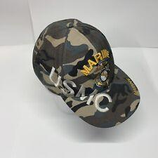 USMC Green Camouflage Marine Corps Strapback Adjustable Cap Hat