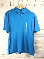 NWT Mens DKNY Active urquoise Polo Shirt Size XL X-Large Pima cotton