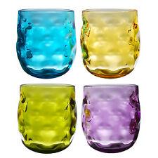 QG Acrylic Plastic 14 oz. Wine Glass Rock Tumbler Set of 4 in 4 Assorted Colors
