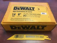 """(100) DEWALT 6"""" RECIP SAW BLADES 14TPI BI METAL DW4808 DW4808B"""