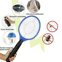 Electric Zapper Bug Bat Fly Mosquito-Insect Killer Trap-Swat Swatter Racket Tool
