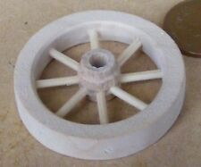 1:12 Scale 4cm Diameter Spoked Wooden Wheel With A Hub Tumdee Dolls House Garden