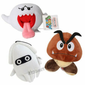 Super Mario Bros Boo Ghost and Goomba and Blooper Plush Doll Figure Toys Gift