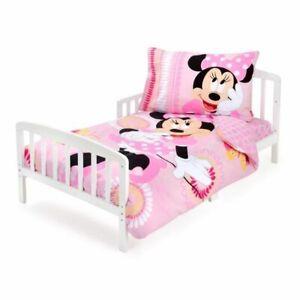 NEW Disney Pink Minnie Mouse 3-Piece Toddler Cotton Bedding Set