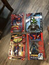 Spider-Man Shape Shifters (1998) Figure Lot Soak An Toss Bump N Go Toy Biz