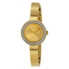 Movado Bold Dot Gold Dial Yellow Gold-plated Ladies Watch 3600322