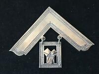 Silver Plated  Masonic Square R Woodruff St Vincent Lodge 5295 1988