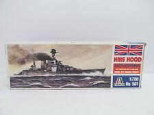 eso-11375Italeri 501 1:720 HMS Hood Bausatz geöffnet,augenscheinlich komplett,
